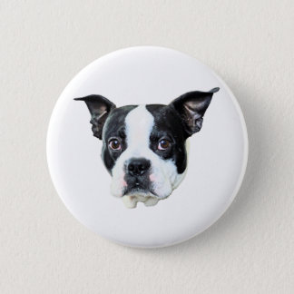 Boston Terrier 6 Cm Round Badge
