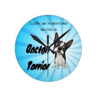 Boston terrier clock