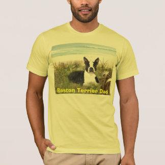 Boston Terrier Dad T-Shirt Beachgrass