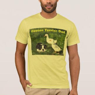 Boston Terrier Dad T-Shirt Ducks