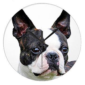 """Boston terrier"" design wall clocks"