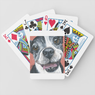 Boston Terrier Dog art Bicycle Playing Cards