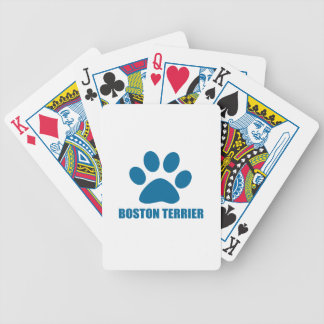 BOSTON TERRIER DOG DESIGNS BICYCLE PLAYING CARDS
