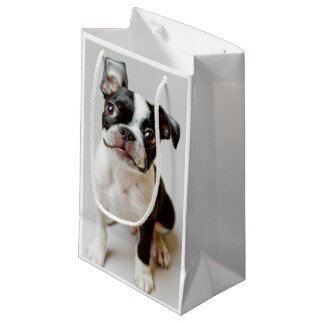 Boston Terrier dog puppy. Small Gift Bag
