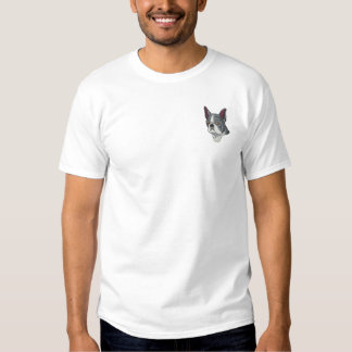 Boston Terrier Embroidered T-Shirt