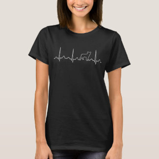 Boston Terrier Heartbeat T-Shirt