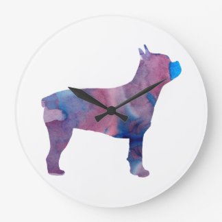 Boston terrier large clock