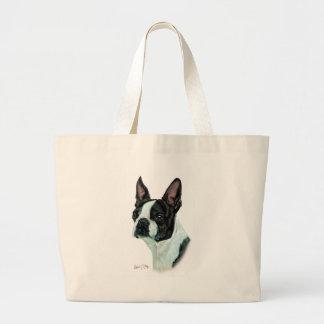 Boston Terrier Large Tote Bag