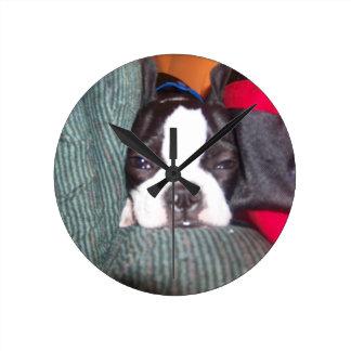 boston terrier lovers clock! round clock