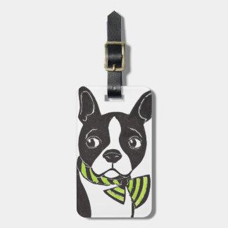 Boston Terrier Luggage Tag