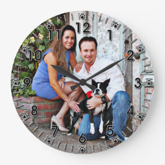 Boston Terrier - Miles Large Clock