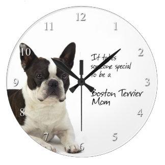 Boston Terrier Mom Clock