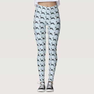 Boston Terrier Pattern Leggings