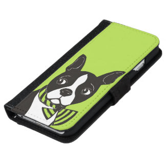 Boston Terrier Phone Wallet Case