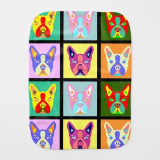 Boston Terrier Pop Art Burp Cloth