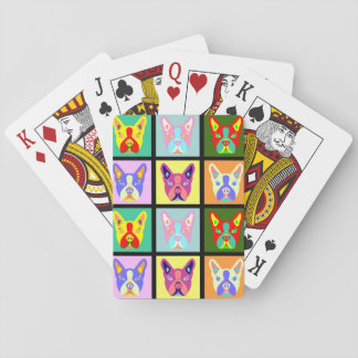 Boston Terrier Pop Art Playing Cards