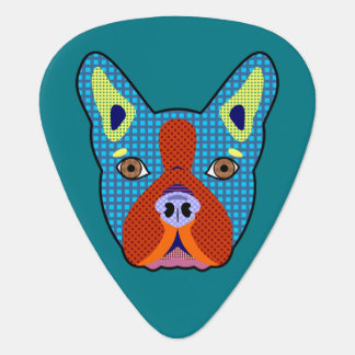 Boston Terrier Pop Art Plectrum