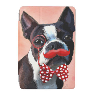 Boston Terrier Portrait with Red Bow Tie and 3 iPad Mini Cover