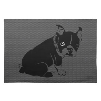 Boston Terrier puppy Woof Placemat