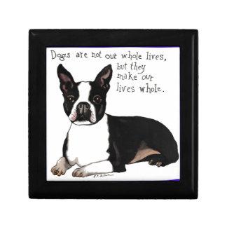 Boston Terrier Small Square Gift Box