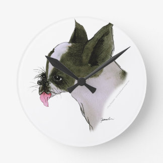 boston terrier, tony fernandes round clock