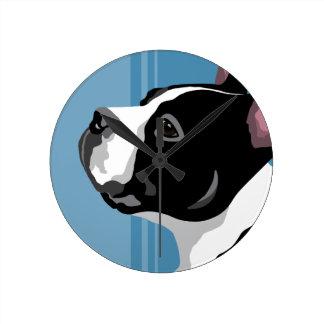 Boston Terrier Wall Clocks
