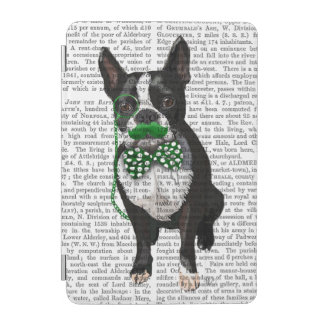 Boston Terrier With Green Moustache And Spotty iPad Mini Cover