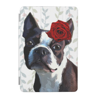 Boston Terrier with Rose on Head 2 iPad Mini Cover
