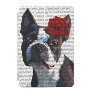 Boston Terrier with Rose on Head iPad Mini Cover