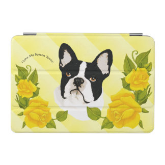 Boston Terrier with Yellow Roses iPad Mini Cover