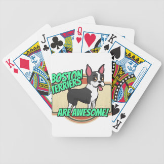 Boston Terriers are awesome! Bicycle Playing Cards