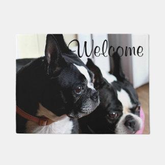Boston terriers doormat