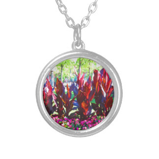 Boston USA America  Green Nature Photography Silver Plated Necklace