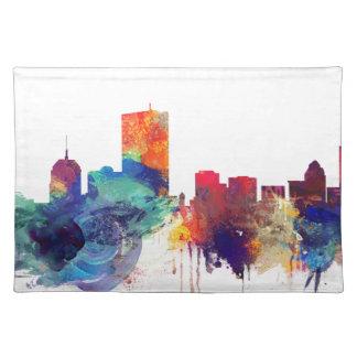 Boston watercolor skyline placemat