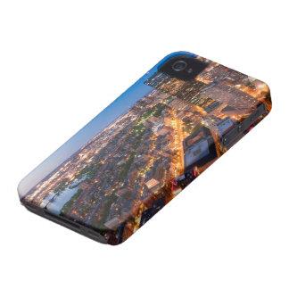 Boston's skyline at dusk Case-Mate iPhone 4 cases
