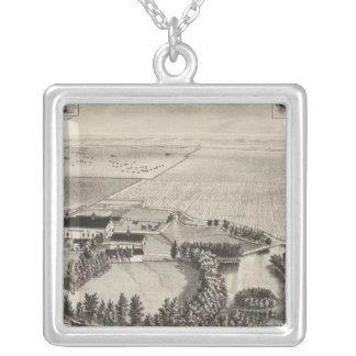 Bostwick residenceand ranch, Kinsley, Kansas Silver Plated Necklace