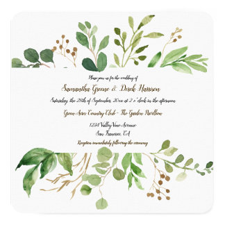 Botanical Dream Square Wedding Invitations