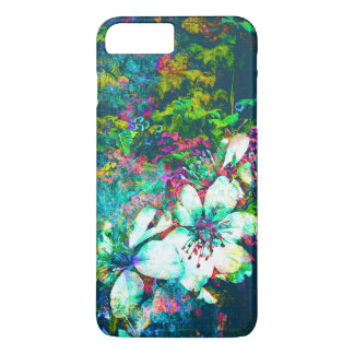 Botanical Floral Grunge Leaves and Vines Painting iPhone 7 Plus Case