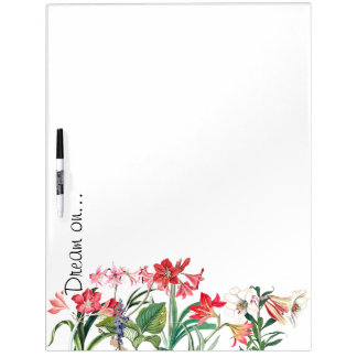 Botanical Flowers Lily Amarylis Floral Garden Dry-Erase Boards