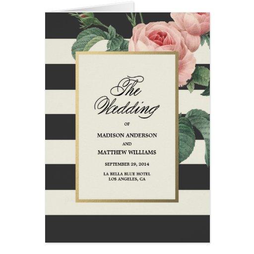 Botanical Glamour | Wedding Program Greeting Card