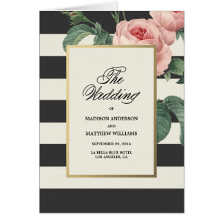 Botanical Glamour | Wedding Program Greeting Card