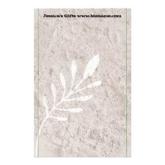 Botanical Grunge Country-Look Stationery
