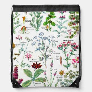 Botanical Illustrations - Larousse Plants Drawstring Bag