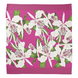 Botanical Orchid Flowers Floral Tropical Bandana