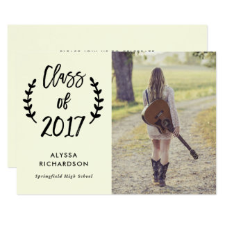 Botanical Script | Photo Graduation Party Invite