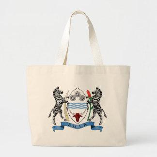 Botswana Coat Of Arms Large Tote Bag