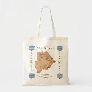 Botswana Map + Flags  Bag