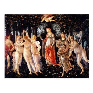 BOTTICELLI -Primavera 1482 Postcard