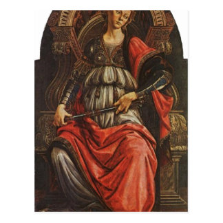 Botticelli, Sandro Fortitudo 1470 Technique Temper Postcard