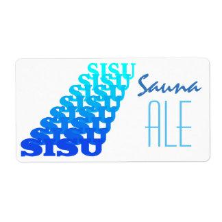 Bottle Labeling Fun Repeat Visual Sisu Sauna Ale